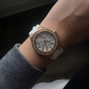 Guess Jewelry - White and rose gold GUESS watch